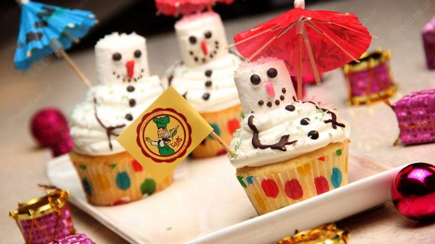 کاپ کیک برفی