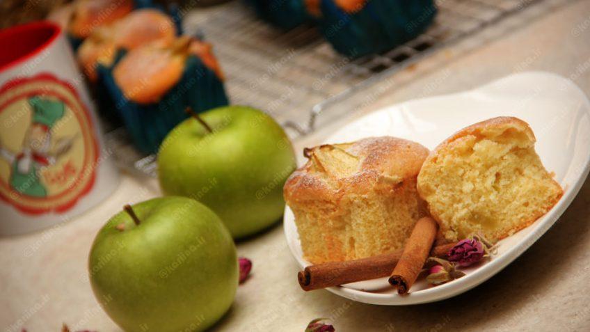 کاپ کیک سیب